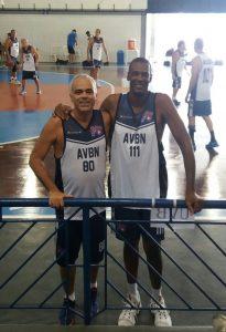 Flavio e o campeão Gerson. Torneio Sul-Sudeste. Abril 2018.